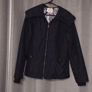 Title nine moto style coat, cowl neck sz large